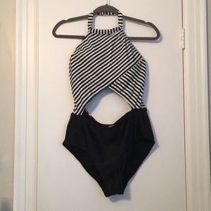 Other - One piece black and white swimsuit